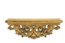 Mensola consolle barocco foglia oro Rettangolare 44 cm