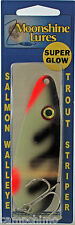 MOONSHINE LURES GLOW IN THE DARK CASTING SPOON 1 OZ. CRAB FACE