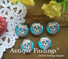 10PCS 12mm Photo Handmade Skull Glass Dome Cabochon Cameo Cabs BCH134A
