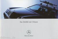 Mercedes E-Klasse Zubehör Prospekt 5/05 2005 Autoprospekt brochure Pkw
