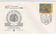 First day cover, Argentina, Sc #1020, Organization of American States, 1974