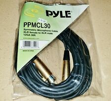 New Pyle 30' Symmetric Microphone Cable, 12 Gauge Xlr Female to Xlr Male Ppmcl30