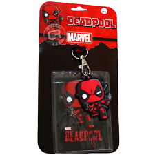 Funko Marvel Deadpool Pop! Lanyard with ID Holder & PVC Rubber Charm Official