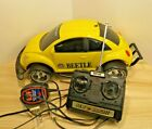 NEW BRIGHT Volkswagen Yellow Beetle Bug RC Car with Remote & Charger. Working!