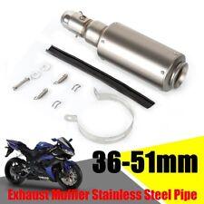 Universal 36-51mm GP Motorcycle Stainless Steel Muffler Exhaust Pipe Silencer UK