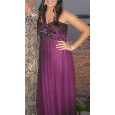 Purple Xscape Prom Dress With Beaded Top Size 6!!