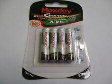 Maxday YAH-139 4700 mAh Blister di 4 Batterie R6-AA Stilo Ricaricabili