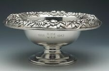 "S. Kirk & Son Repousse 9.5"" Sterling Silver Pedastaled Fruit bowl"