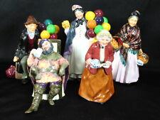 Royal Doulton 5 Figurines Balloon Man Orange Lady Teatime Foaming Quart & Biddy