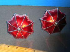 Umbrella Ornament set of 2 red