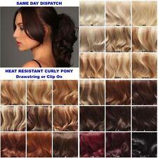 Drawstring Short Curly Hair Extensions