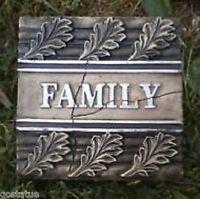 Plastic family plaque mold plaster concrete mould