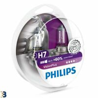 Philips H7 VisionPlus 12V 55W Bombilla del faro Más luz 12972VPS2 Twin