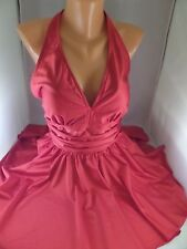 NWT Esther Williams 1pc Red Swim Dress Seaside Marilyn Classic Sz 8 Runs Sm