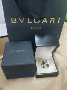 18k White Gold Bvlgari B.Zero1 US Ring Size 9 Punched