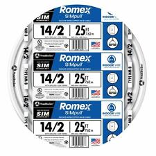 Romex SIMpull 25-ft Non-Metallic Wire Residential Cable Copper Conductor 14 AWG