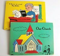 Vintage SIFO Wooden Puzzles Childrens 50s 60s Religious Church Bible Lot of 2