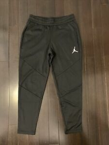 Jordan Alpha Men's Fleece Pants Black White Jogger Size Large
