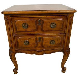 Vintage Henredon Nightstand Villandry French Table two drawers Walnut