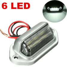 12V 6 LED License Plate Tag Light Boat Car RV Truck Trailer Interior Lamp