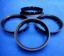(FZ28) 4 Stück   Zentrierringe 74,1 / 71,6 mm  dunkelbraun für Alufelgen