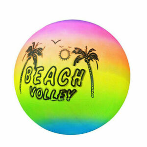 Rainbow Beach Ball Inflatable Volleyball Swimming Pool Water Play