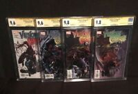 VENOM VS CARNAGE SET 1-4 1 2 3 4 CGC 9.6 9.8 SIGNED CLAYTON CRAIN FIRST TOXIN