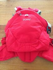 Red Stokke Baby Carrier in perfect condition