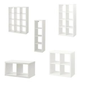 IKEA KALLAX Regal Weiß Bücherregal Wandregal Raumteiler Blumenregal Aufbewahung