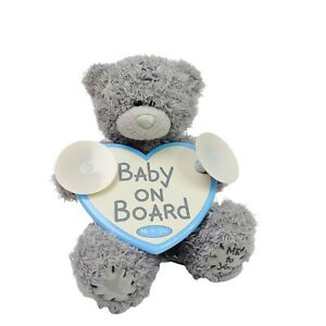 Me to You Carte Blanche Blue Nose Bear Teddy Baby on Board Heart Washed 14cm
