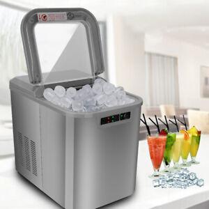 Eiswürfelbereiter grau Eiswürfelmaschine Selbstreinigungsmodus Theke 2,2L Bar