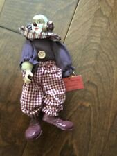 Show Stoppers Inc. Hobo Bendable Collectible Porcelain Clown