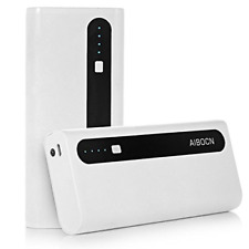 Aibocn Power Bank 10,000mAh External Battery Charger with Flashlight for Phone -