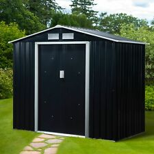 Outsunny 7' x 4' Garden Storage Shed Metal Outdoor Utility Storage Tool Shed Kit
