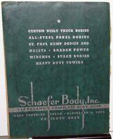 1948 Schaefer Body Inc Custom Truck Bodies Steel Panel St Paul Dump Beds Catalog