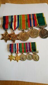 WW2 Original Medal Group + Min As Worn. Inc Territorial Medal. G. Hare. R. M. P.