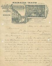 Lettera Illustrata Autografo Max Oettinger Sigari Tabacco Habana Haus Basilea