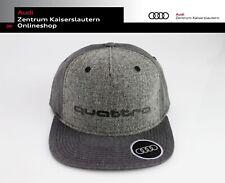 Audi Original Snapback Cap quattro in dunkelgrau 3131700800 Unisex Wollstoff