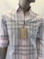 NWT Burberry Brit Long Sleeve Off White Rose Shirt Size L MSRP $325