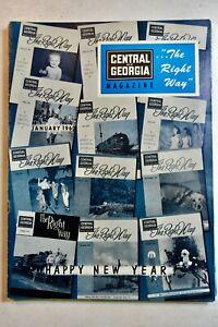 THE RIGHT WAY MAGAZINE, CENTRAL of GEORGIA RAILROAD, January 1960