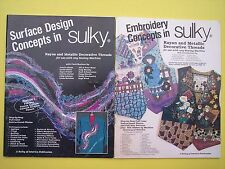 Surface Designs in Sulky Embroidery Concepts 2 Book Lot Rayon & Metallic Threads
