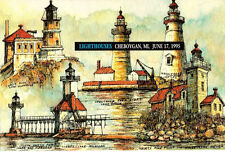 #2973a Cermony Program 32c Lighthouses Stamps