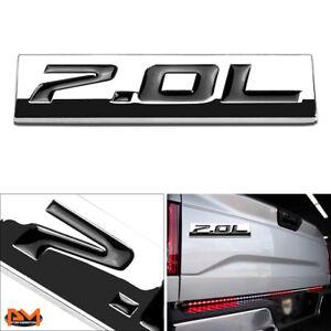 """""""7.0L"""" Polished Metal 3D Decal Black Emblem Sticker For 06-13 Chevrolet Corvette"""