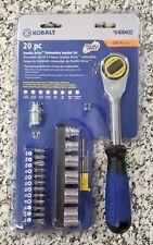 Kobalt 20 Pc Piece Double Drive Extendable Handle 3/8