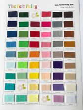 Shade Card - 100% Polyester Felt - Help to choose your colours!