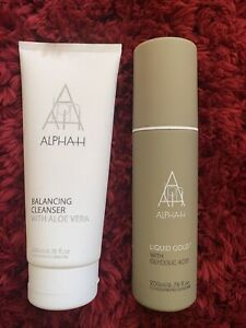 ALPHAH LIQUID GOLD 200ml & ALPHAH BALANCING CLEANSER 200ml *Used Once