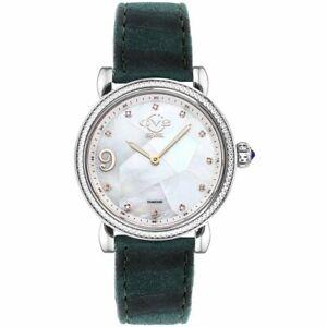 GV2 by Gevril Ravenna Womens 12600 Swiss Quartz Animal Print Suede Diamond Watch