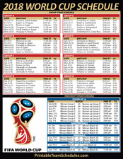 HUGE! 2018 WORLD CUP GROUP SCHEDULE MAGNET BRACKET RUSSIA MLS SOCCER FUTBOL FC