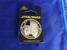 Disney Star Wars * JUDICIAL STORMTROOPER  GOLD MASK * New on Card Trading Pin