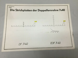 NVA DF 7x40 EDF Strichplatte RPG7 Ausbildung Lehrmittel Tafel 1984